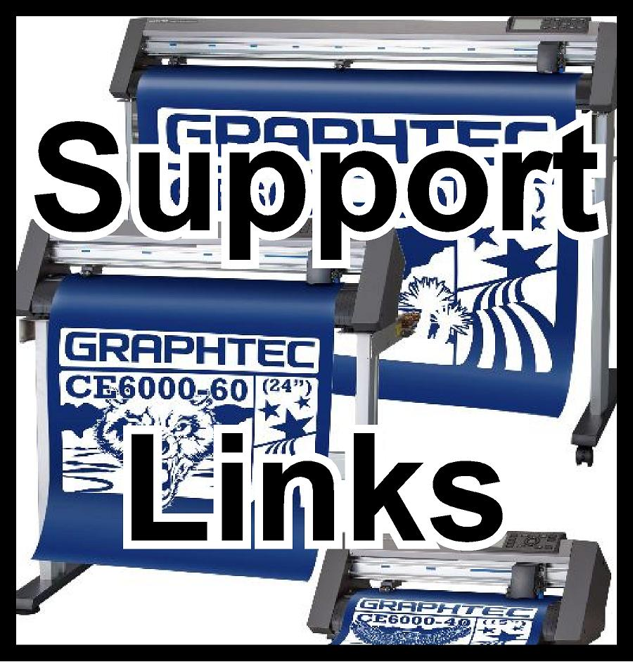 Support information for Graphtec Cutters