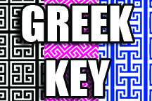 12in x 18in sheet sheet of Custom HTV Greek Key Patterns