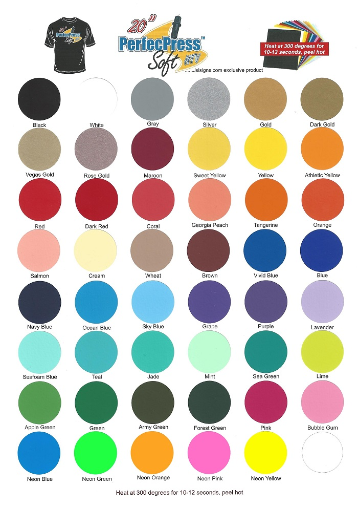 PerfecPress Soft Color Chart - Several New Colors!