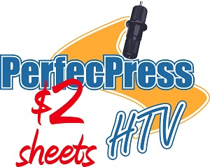 12 inch x 10 inch Sheet of PerfecPress HTV - HALF SHEET