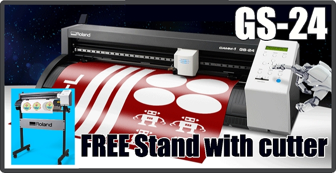 Roland GS-24 24inch Vinyl Cutter w/ stand now included! - DROP SHIP