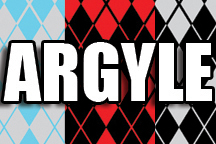 12 in x 18 in Sheet of Argyle Pattern sign decal vinyl