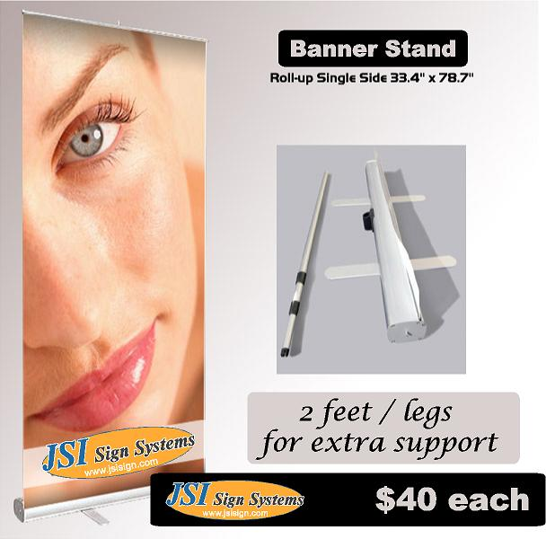 Retractable Banner Stand single sided 33.4 in x 78.7 in