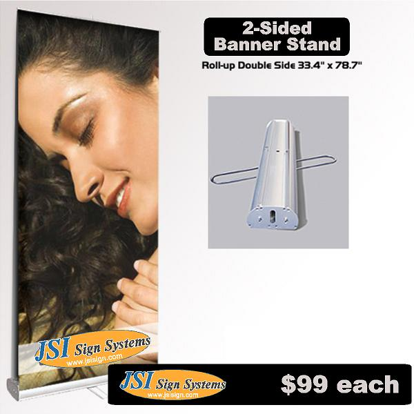 Retractable Banner Stand double sided 33.4 in x 78.7 in