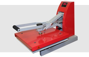 15 in x 15 in Big Red Clam heat press