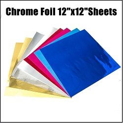 12in x 12in Chrome Foil Sticky Vinyl Sheet