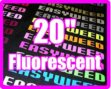 12in x 20in sheet of Siser EasyWeed FLUORESCENT