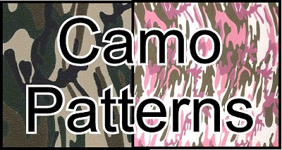 12in x 15in sheet of  Camo Fashion Prints