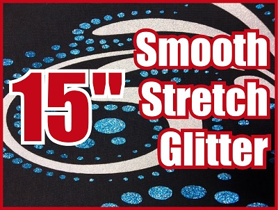 12 in X 15 in Sheet of Galaxy Smooth Stretch Glitter PU HTV