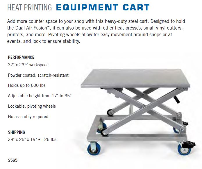 Heavy Duty Heat Press Cart