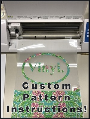 HOW TO use custom HTV patterns!