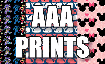 12in x 18in sheet of Custom HTV AAA Print Patterns