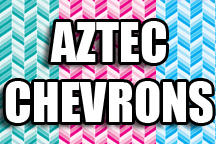 12in x 18in sheet of Custom HTV Aztec Chevron Patterns