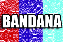 12 in x 18 in Sheet of Bandana Patterns Sign Vinyl Sheets