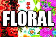 12 in x 18 in Sheet of Floral Pattern sign vinyl